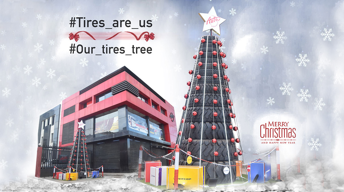Christmas Tires Tree